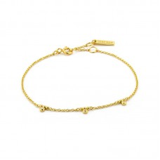 Gold plated armband Shimmer Triple Stud - 23306