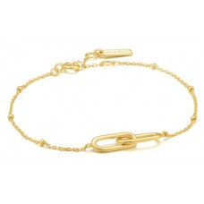 Chain Reaction bracelet M ,zilver 14krt verguld - 23823
