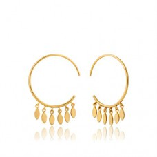 Gold plated Multi-Drop Hoop oorringen - 23346