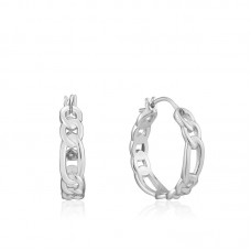 Figaro Chain Hoop Earrings - 23913