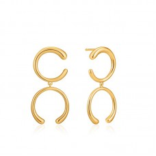 Luxe Double Curve earrings - 23914