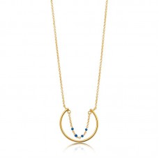 Gold plated Dotted Circle Necklace - 23390